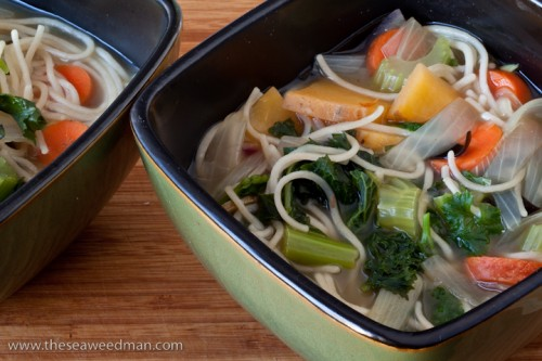 Vegetable Noodle Dashi Soup
